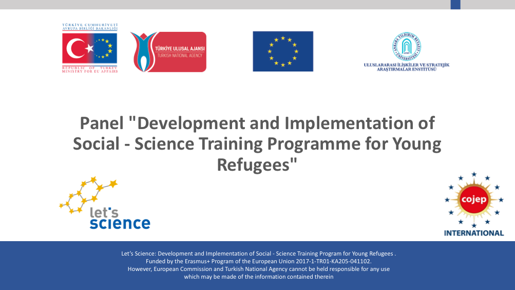 Development and Implementation of Social – Science Training Programme for Young Refugees