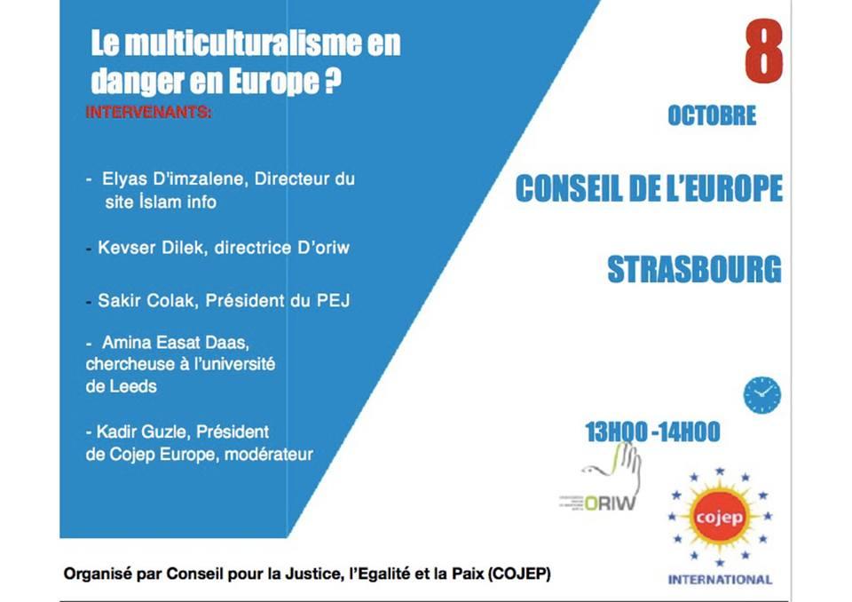 Conférence au Conseil de l'Europe : le multiculturalisme en danger en Europe