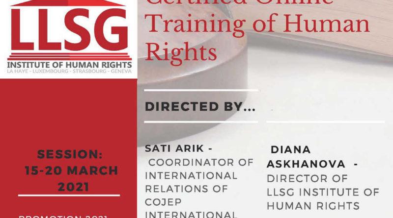 LLSG İnsan hakları sertifika programı çok yakında!
